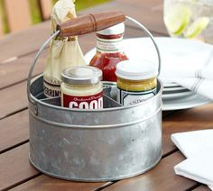 Galvanized Metal Caddy | Pottery Barn