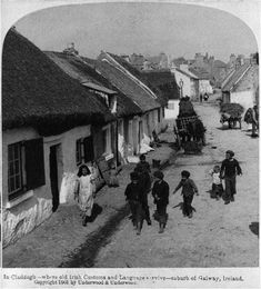 In Claddagh - where old Irish customs and language survive - suburb of Galway, Ireland, 1903 England Ireland, Galway Ireland, Ireland Travel, Ireland Pictures, Old Pictures, Old Photos, Vintage Photos, Irish Cottage, Ireland Homes
