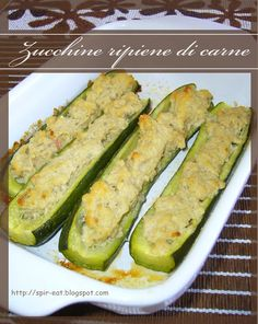 spirEat: Zucchine ripiene di carne