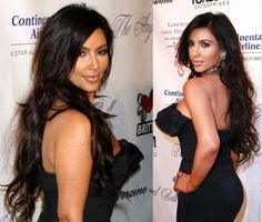 Kim Kardashian is very beautiful and very dashing personality. She is talented actress and fashion designer. She looks amazing in every design of clothes she wears or every hair she wears.