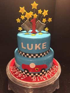 Custom designed cake for a very special little boy.