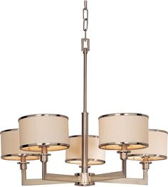 Maxim Lighting Nexus 5 Light Single Tier Chandelier in Satin Nickel 12055WTSN #maxim #maximlighting #lightingnewyork #vivex #outdoorlighting #lighting