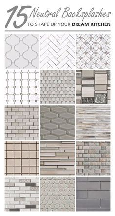 Arabesque, elongated hexagon, and penny tiles, these neutral backsplashes are an instant win in any kitchen. What mosaic shape fits your style?