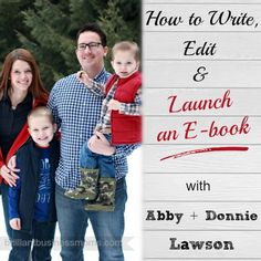How to Write, Edit, & Launch an E-book with Abby Lawson
