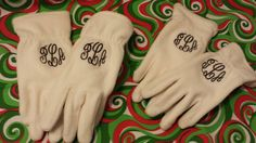 Monogrammed iTOUCH Woman's gloves  Winter by KayKreations2012, $25.00