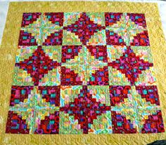 Mountain Quiltworks: Modern Curvy Log Cabin with Kaffe Fassett