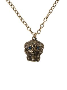 LOVEsick Day Of The Day Sugar Skull Necklace | Hot Topic