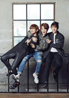 #Jimin #Park #Taehyung #Kim #V #Jungkook #Jeon #BTS #Eyewink #Smile #Happy #Cute #Photoshoot #Puma #Beanie #Brownhair