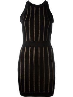 BALMAIN Ribbed Sleeveless Dress. #balmain #cloth #dress