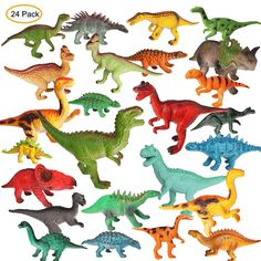 M SANMERSEN Dinosaur Figure Toys, 4''- 8'' Jumbo Plastic Realistic Figures Dinosaur Playset Toys for 3-6 Boys Jurassic World DinosaurÿEducational Toys for Toddler - 24 Pcs * Learn more by visiting the image link. (This is an affiliate link)