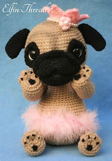 This is a pattern to make a beautiful and cute Pug Puppy called Queency so adorable that melts the heart of anyone who sees her :3