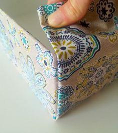 How to make a fabric storage box? - Diy Box covered with fabrics - Fabric Storage Boxes, Fabric Boxes, Fabric Covered Boxes, Fabric Basket, Creative Decor, Creative Storage, Diy Storage, Diy Box, Diy And Crafts