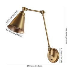 """Safavieh Lighting Kensley Wall Sconce - 5.9"""" x 21"""" x 19.5"""" - Overstock - 32201266 Sconces Living Room, Wall Sconces, Lighting Store, Sconce Lighting, Plug In Wall Lamp, Industrial Chic Style, Wall Lights, Ceiling Lights, Light Bulb Bases"""