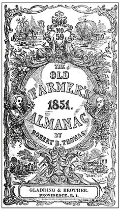 """The """"Four Seasons"""" cover engraving for The Old Farmer's Almanac. First used in 1851."""