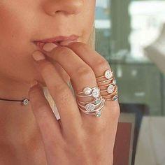 Silver and Swarovski stackers from $59 😳 #stackers #silver #portfairy #portfairyfashion #portfairyjeweller #startstacking #gorgeous #greatoceanroad    #Regram via @loveleskesjewellers