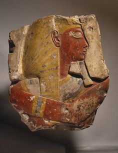 Relief of Ramses II:Medium: Limestone, paint  Possible Place Collected: Abydos, Egypt  Dates: ca. 1279-1213 B.C.E.  Dynasty: XIX Dynasty  Period: New Kingdom