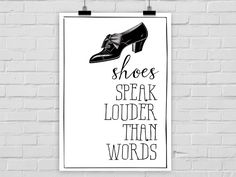 Kunstdruck SHOES vs. WORDS von PrintsEisenherz via dawanda.com