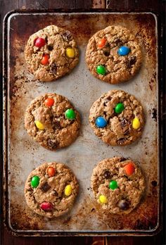 Monster Peanut Butter Oatmeal Chocolate Chip Cookies Recipe