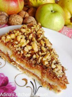 Adina's kitchen & travel: Prajitura cu mere,nuci si gris (rapid de preparat)...
