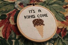 """""""King Cone"""" Embroidery 