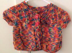 Child's Handknitted Kimono Jacket on Etsy, $10.00 AUD