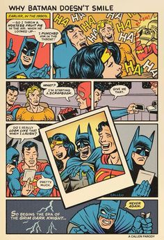 Why Batman hasn't smiled since the 1980's