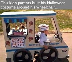 Best Halloween costume ever.his parents made this costume around his wheelchair! Best parents ever! Faith in humanity restored