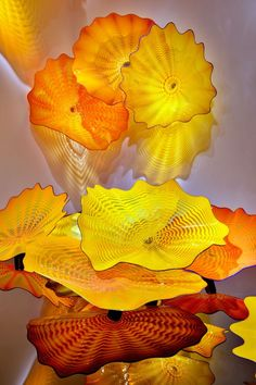 A wonderful autumnal display of colour by Dale Chihuly (American, born 1941)