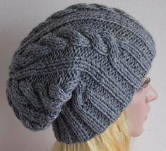Knitted hat for women women's beanieslouchy  by accessoriesbyrita