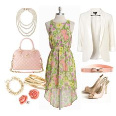 Floral High-Low Dress on Polyvore
