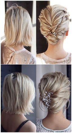 Medium Long Hair, Medium Hair Styles, Short Hair Styles, Medium Length Updo, Classic Wedding Hair, Long Hair Wedding Styles, Perfect Wedding, Pretty Braids, Braids For Short Hair