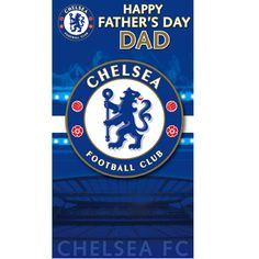 Chelsea FC Father's Day Dad Card. Get directly from publishers Danilo.com with Free UK Delivery. Worldwide shipping also available