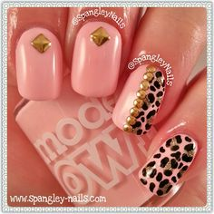 Models Own Hypergel Leopard Print Nail Art! #prom