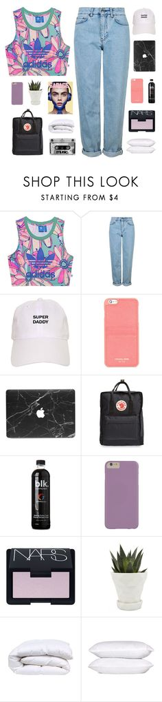 """best mistake"" by flying-baby-unicorn ❤ liked on Polyvore featuring adidas Originals, Topshop, Michael Kors, Fjällräven, NARS Cosmetics and Chive"