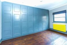 Farrow & Ball painted doors give a fantastic beautiful finish for a project we've just completed in Soho. Below is a link to our online calculator to see how much your bespoke made to measure wardrobe will cost http://www.foxwardrobes.co.uk/instant-online-estimator/