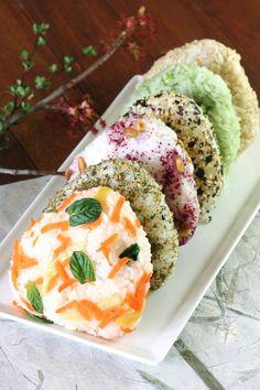 Veggie Onigiri six ways / Recipes
