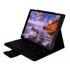 """Detachable Wireless Bluetooth Keyboard Folio Leather Case Stand for iPad Pro 12.9"""" - Black"""