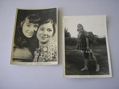 2 Vintage photographs three unknown German girls women 1970 ORIGINAL PHOTOS from 1970s by IrishBarnVintage on Etsy
