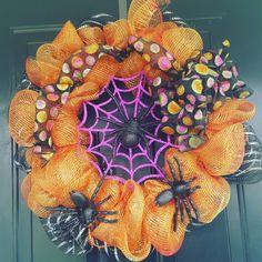 Halloween wreath is complete