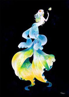 *illust@mayu nanao * Mermaid Artwork, Mermaid Drawings, Mythical Creatures Art, Mythological Creatures, M Anime, Anime Art, Anime Mermaid, Mermaid Pictures, Mermaid Coloring
