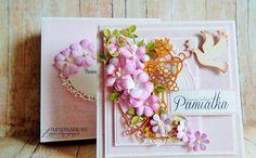 agnieszkapasjonata: 750. Pamiątka Pierwszej Komunii... [Przydasie Pasj... Flower Cards, Frame, Flowers, Handmade, Decor, Picture Frame, Hand Made, Decoration, Decorating