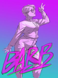 """Throwin' together a little bit of 80′s fan art for my favorite character"" - Barb Holland from Stranger Things"
