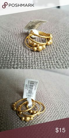 NWT Madewell stacking rings size 8 Cute stacking rings never worn :) Madewell Jewelry Rings