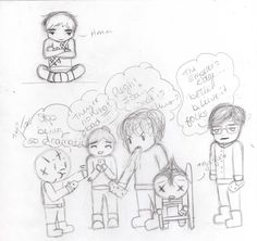 The gang's faces after trying Sicarius Bars - Take 1 by ~babysith on deviantART ...  Hmmm, I wonder who would request a picture like that?  ;)