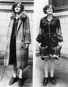 A woman hides 2 large containers of alcohol under her dress and coat, as seen in this 'on off' photo - Detroit, Michigan - circa 1925 Andrew Jackson, Roaring Twenties, The Twenties, La Prohibition, Weird Vintage, History Magazine, Happy New Year Everyone, Coat Dress, Historical Photos
