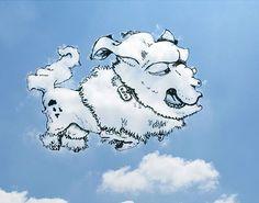 Dessins dans les nuages de  Martin Feijoó sur DGS  chien