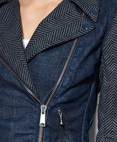wool and denim moto jacket @Levi Brown's®
