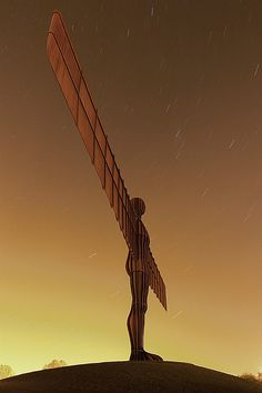 Angel of the North, Newcastle - England.  Always a welcome sight on my drives north.
