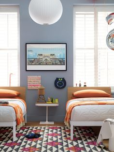 George Nelson Ball Pendant Lamp in a children's bedroom