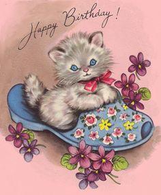 Happy Birthday kitty, via Flickr.
